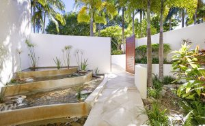 Golf Villa 757 entrance with water feature