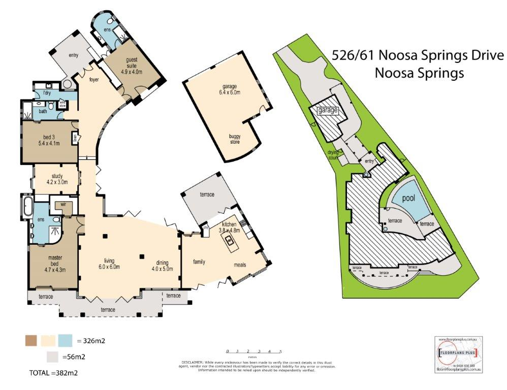 Villa 526 Floor Plan Noosa Golf Villas Real Estate